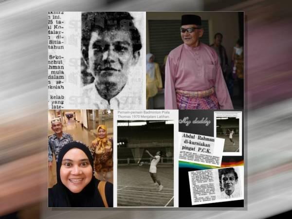Keratan akhbar mengenai Abdul Rahman ketika bergelar pemain badminton Malaysia suatu ketika dahulu.