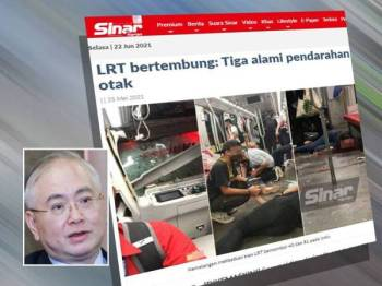 Pada 25 Mei lalu, Sinar Harian melaporkan tiga daripada enam mangsa kemalangan melibatkan tren LRT berhampiran stesen Kampung Baru dilaporkan mengalami pendarahan otak, dua patah tulang dan seorang luka kelopak mata. Gambar kecil: Wee Ka Siong