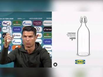 Botol air yang dinamakan sempena nama Ronaldo.