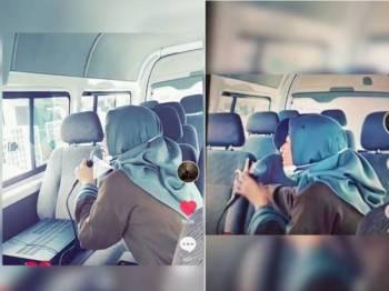 Video Nur Allyshia ketika menyapa pasangan suami isteri berbangsa Cina di taman perumahan Inderapura, Kuantan pada Jumaat.