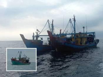 Bot nelayan tempatan yang dikesan melakukan pelanggaran syarat sah lesen di perairan Rungkup pada Ahad.