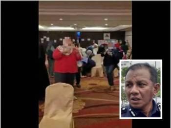 Tular di media sosial beberapa individu berpesta tanpa memakai pelitup muka dipercayai di sebuah hotel di Shah Alam baru-baru ini. (Gambar kecil: Baharudin Mat Taib)