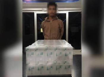 Remaja berusia 16 tahun disyaki menyeludup 20 kotak rokok yang belum lulus Kastam.
