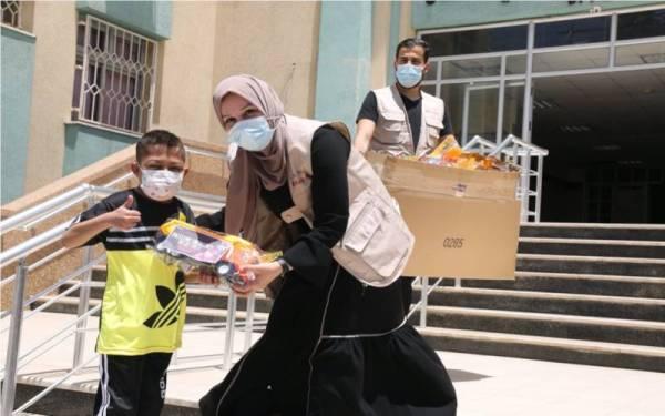 Antara bantuan yang disalurkan GPM Malaysia kepada rakyat Palestin.