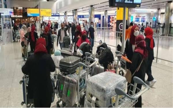 Pelajar tajaan Mara selamat tiba di Lapangan Terbang Antarabangsa Heathrow jam 4.15 petang waktu tempatan.