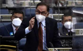 Ketua Pembangkang Datuk Seri Anwar Ibrahim -Foto Bernama