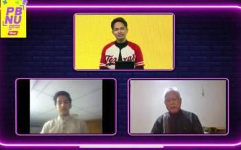 Fahiz (atas), Shamsuddin (kanan) dan Ahmad ketika program Pemimpin Baru Nak Up (PBNU) bertajuk Budak praktikal 'manja'? yang disiarkan di platform digital Sinar Harian pada Isnin.