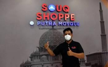Shafiq Aswad berkata pemilihan Putrajaya sebagai lokasi Souq Shoppe @ Putra Mosque adalah sebelum pandemik Covid-19 yang menerima kehadiran 100 hingga 140 bas pelancong sehari. - Foto Bernama